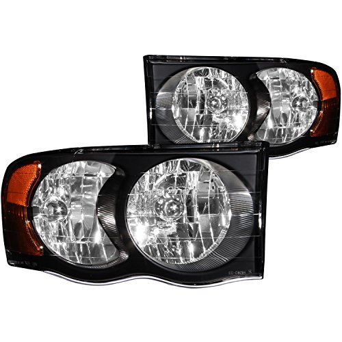 e Ram Crystal Black Headlight Assembly - (Sold in Pairs) (Anzo Usa Headlight Crystal)