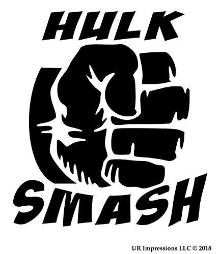 UR Impressions Blk Hulk Smash Decal Vinyl Sticker Graphics for Cars Trucks SUV Vans Walls Windows Laptop|Black|5.5 X 5.3 -