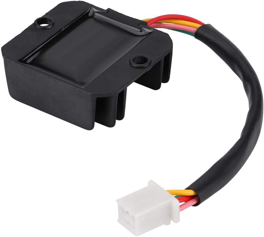 Rectifier 4 Wires Voltage Regulator Rectifier AC Input 20-60V for Motorcycle Boat Motor ATV GY6 50 150cc Scooter