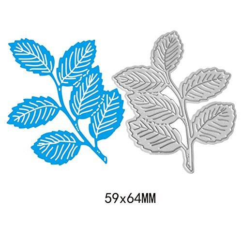 Whitelotous Six Leaves Grass Die Cut Cutting Dies Stencils Embossing DIY Craft for Scrapbook Photo Album Paper Cards Gift