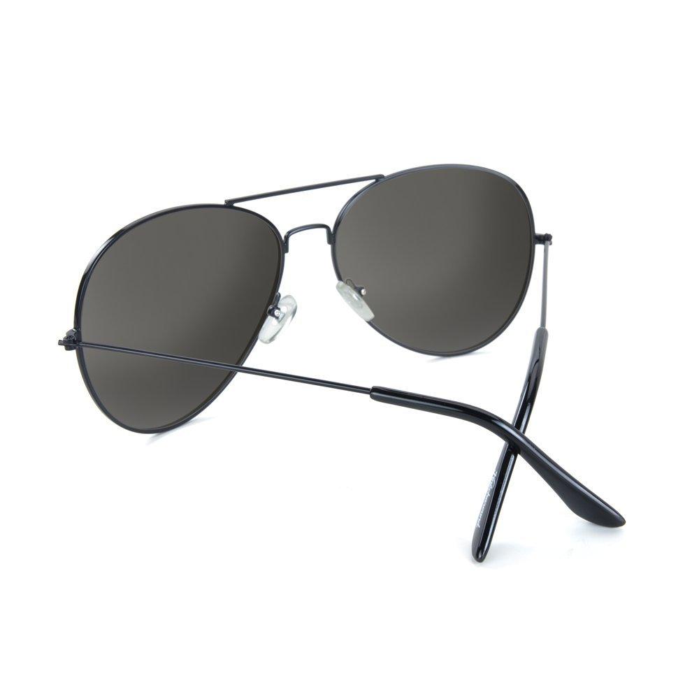 00a36d807 Amazon.com: Knockaround Mile Highs XL Polarized Sunglasses, Black/Smoke:  Clothing