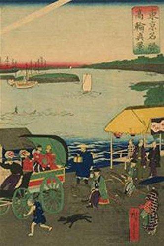 Walls 360 Peel & Stick Wall Decals: Famous Places in Tokyo View of Takanawa (Tokyo Meisho Takanawa No Shinkei) #3