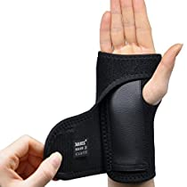 MCTi Hand Wrist Palm Brace Support Splint Carpal Tunnel Stabilizer Wraps Arthritis Sprains Strain Right or Left