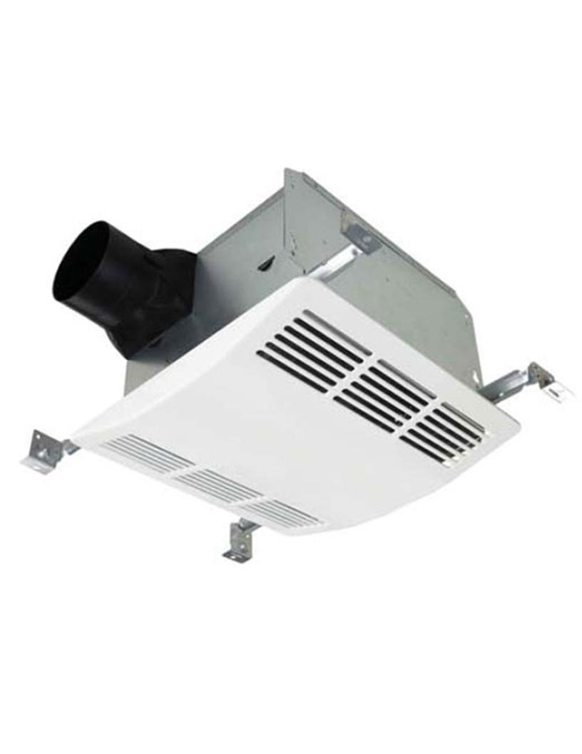 Image of Fluorescent Tubes AirZone Fans SELF110X Premium 1000W Heater Exhaust Fan Light Combo with 2-18W Compact Fluorescent Bulbs, Very Quiet 0.6 Sones, 110 CFM