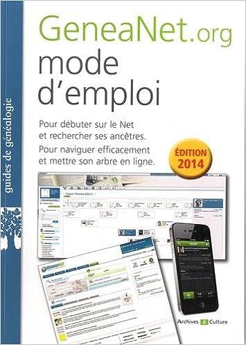 Geneanet Org mode d'emploi: 9782350772394: Amazon com: Books