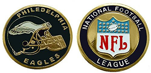 Eagles Collectible Challenge Coin- Logo Poker - Lucky Chip