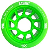 ATOM Savant Roller Wheels - Ultra Light for Perfect Speed and Control, Green 99A, Set of 8