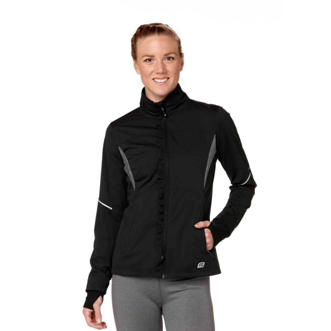 Road Runner Sports R-Gear Womens Blown Away Jacket, Black/Black, XS by Road Runner Sports