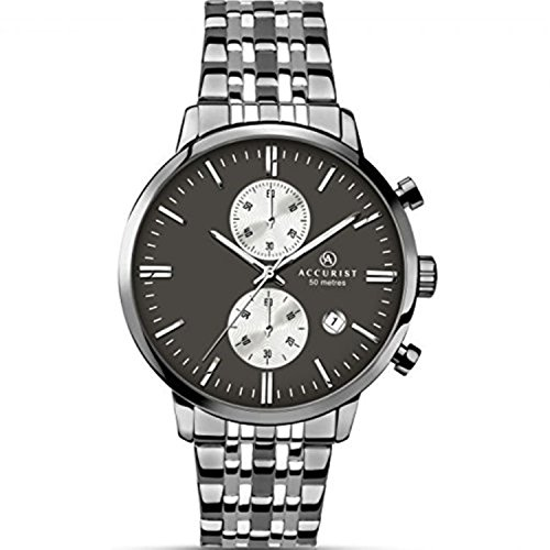 Mens Accurist Stainless Steel Bracelet Watch 7082
