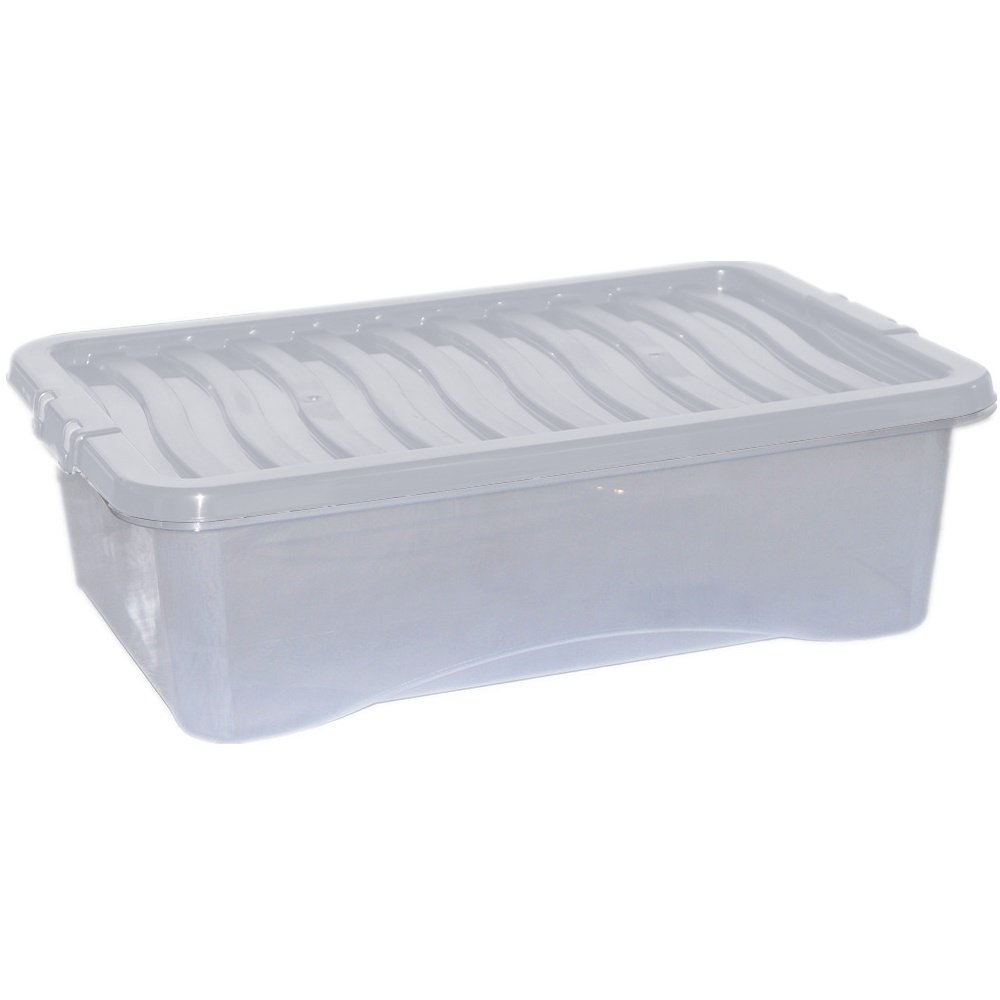 Pack of 5 32lt underbed boxes and lids Fusion