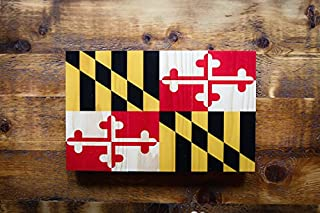 product image for Plak That Maryland Flag Printed on Rustic Wood