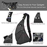 TOPNICE Sling Chest Crossbody Bag Anti Theft Travel