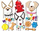 Puppy Dog Photo Booth Props Kit - 20 Pack Party Camera Props Fully Assembled