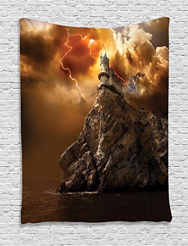 Tapestry Ambesonne Fantasy Lightning Supernatural