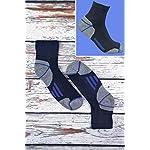 Sock Snob Chaussettes de travail à la cheville en coton rembourré ultime pour hommes pour bottes à bout en acier 8