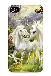 GPPisBy8825tNZHM Anti-scratch Case Cover Pouchedgrate Protective Unicorns In The Castle Garden Case For Iphone 4/4s