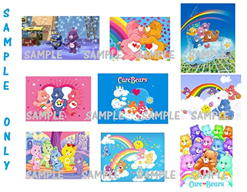 9 Care Bears inspired Stickers