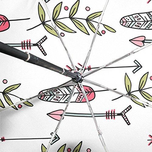 bennigiry Tribal Arrows winddicht & wasserdicht Compact Travel Regenschirm–Auto Open Close Regenschirm Fest leicht einfach, der Sonnenschirm für Herren Frauen Color#002