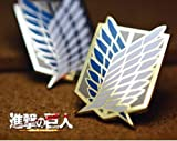 [Anime blue white gold] Attack on Titan Scouting Legion pin badge emblem cosplay goods (japan import)