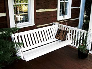 product image for Outdoor 6 Foot Traditional English Porch Swing - Painted- Amish Made USA -White