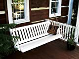 Outdoor 6 Foot Traditional English Porch Swing – PAINTED- Amish Made USA -White
