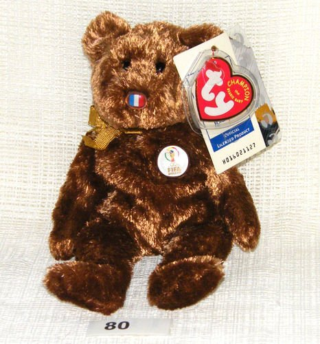 Amazon.com  TY Beanie Baby - 2002 FIFA World Cup Champion Bear. COLLECTABLE WORLD  CUP TY BEANIE BABY South Korea by ty beanie  Toys   Games 3eadcb50cce6