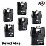 Master Lock Pro Series Padlock - (6) High Security Locks 6327NKA-6 w/ BumpStop Technology