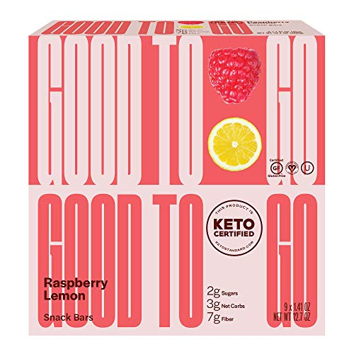 GOODTO GO Soft Baked Bars - Raspberry Lemon, 9 Pack - Gluten Free, Keto Certified, Paleo Friendly, Low Carb Snacks 2