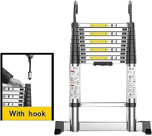 XSJZ Escalera Telescópica, Retráctil Portátil con Escalera Recta de Gancho para Elevador de Ingeniería de Escalera de Ático para El Hogar (2 Tamaños) Escalera Plegable (Size : 3.5m): Amazon.es: Hogar