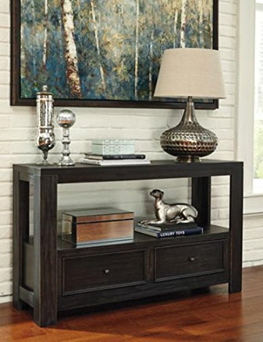 Signature Design By Ashley Gavelston Sofa Table Rubbed