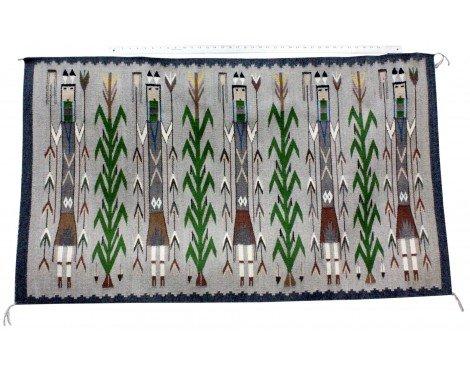 Perry Null Trading Rena John, Yei Rug, Navajo Handwoven, 55 in x 31.5 - Rug Yei