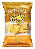 Cheetos Natural White Cheddar Puffs Cheese Flavored Snacks, 8oz Bags (Pack of 12)