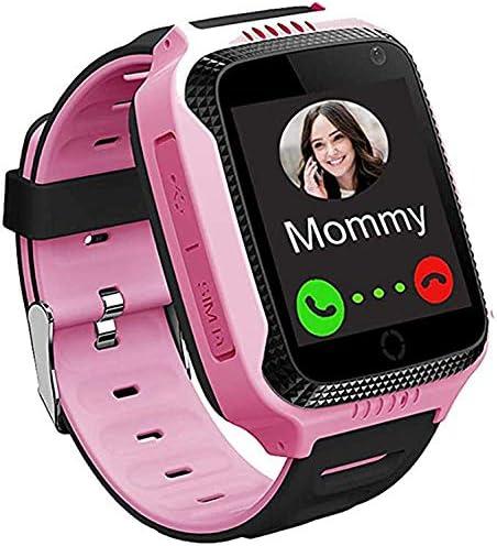 ZBHWYD SmartWatch Kids GPS Smart Watch Regalo para niños y niñas, Reloj de Estudiante de Pantalla táctil, con SOS Call Voice Chat Cámara Flashlight Pedómetro Reloj de Alarma Rosa, Rojo