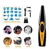 YANWIN Electric Carving Hair Clipper Cordless Barbers Scissors Carved Tools Rechargeable Lettering Cutter Hair Trimmer Compact Portable