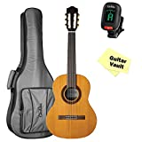 Cordoba Requinto 580 1/2 Size Classical Guitar with Deluxe Cordoba Matching Gig Bag, Tuner, and Polishing Cloth