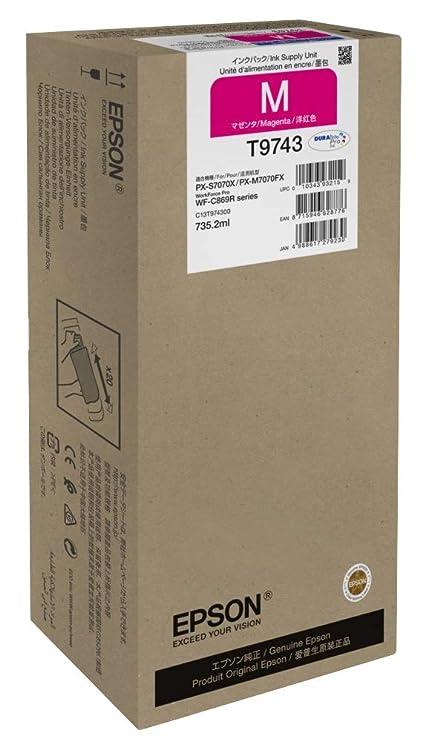 Epson T9743 735.2ml 84000páginas Magenta Cartucho de Tinta ...