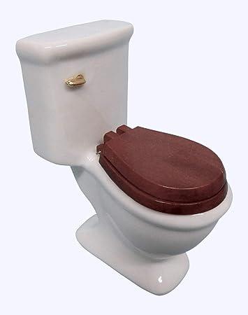 Puppenhaus Miniatur Toilette Porzellan Keramik  Badezimmer Puppenstuben & -häuser