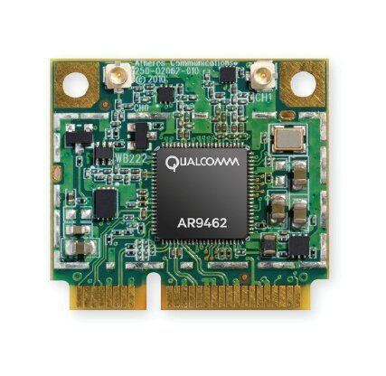 AR9462 AR5B22 Combo WiFi 2.4G/5G & Bluetooth 4.0 module, 802.11 ABGN Dual Band, 2T/2R Mini PCI-Express Half-Size Module, Atheros AR9462 (Wifi Card Mini Pci)