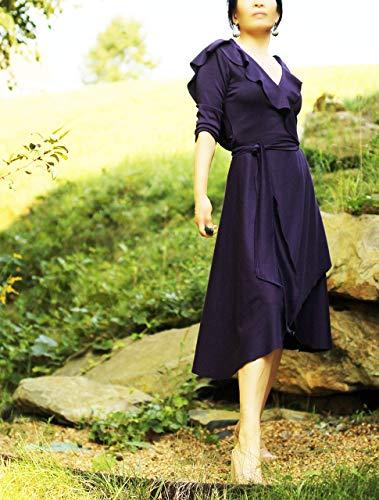 Wrap Hooded Dress handmade in US by mirimiri