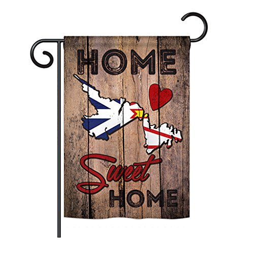 Ornament Collection G191182-BO Canada Provinces Newfoundland and Labrador Home Sweet Home Flag of the World Canada Province Impression Decorative Vertical 13