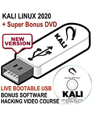 Kali Linux 2020 16GB USB Bootable Live Install Linux OS - Newest Version Penetration Testing Operating System + Ethical Hacking Course & Bonus Software DVD Disk