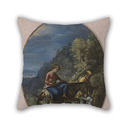 20 X 20 Inches / 50 By 50 Cm Oil Painting Adam Elsheimer - The Flight Into Egypt Pillow Shams Double Sides Is Fit For Play Room Christmas Son Her Monther Valentine