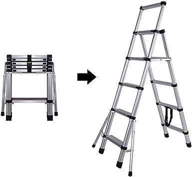 LXF Escaleras plegables Escalera De Extensión De 5.3 Pies, Escalera De Tijera Antideslizante Plegable Resistente, Escalera De Ingeniería De Aleación De Aluminio Con Pedal De Ampliación, Carga Máxima 3: Amazon.es: Bricolaje y