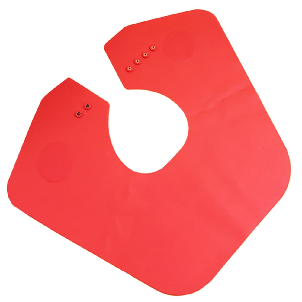Salon Cutting Collar Stylist Magnetic Silicone Barber Cape Hair Coloring Shawl Neck Shutter Doubtless Bay(red)