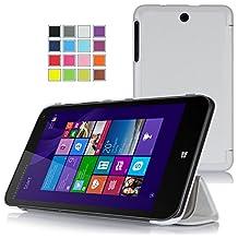 VSTN ® HP Stream 8 windows 8.1 Tablet ultra-thin Smart Cover Case , Only fit Hp Stream 8 windows 8.1 tablet (White)