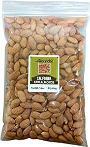 California Raw Almonds - 1 lb resealable bag