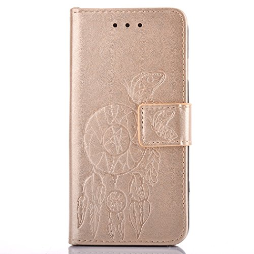 Huawei P9 plus Hülle , BONROY® Schmetterling Campanula Huawei P9 plus Wallet Case Flip Cover Hüllen Karten Slot Schutzhülle Etui Magnetverschluss Book Stil Premium Hülle mit Standfunktion für Huawei P9 plus