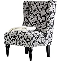 HOMES: Inside + Out IDF-AC6182A Ajax Chair Contemporary, Damask