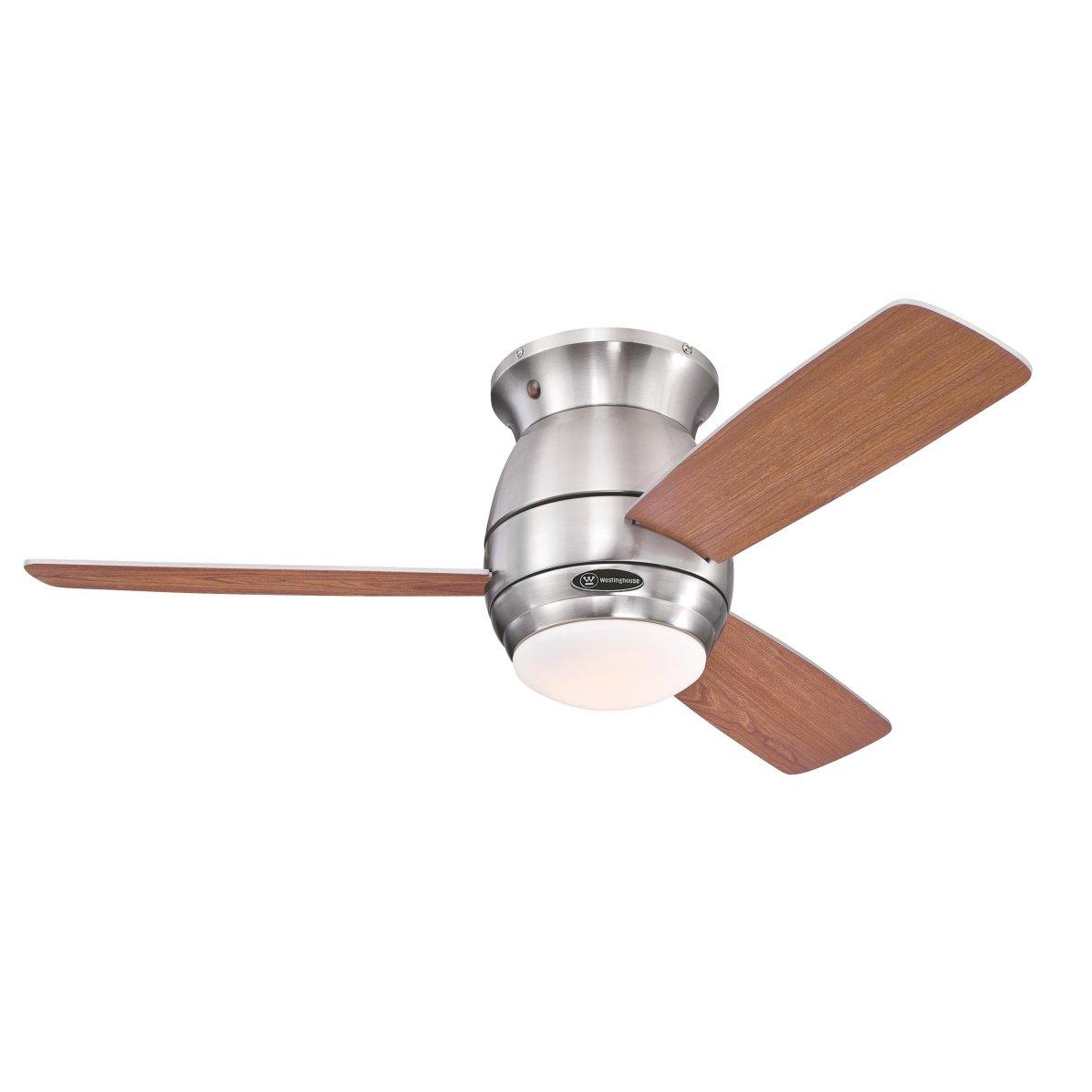 Westinghouse 7218140 Ventilateur de Plafond d'Intérieur, Kit d'Eclairage, Métal, Nickel Brossé product image