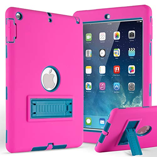 iPad 2 Case,iPad 3 Case,iPad 4 Case,ZERMU 3in1 Kickstand Feature Heavy Duty Shockproof Rugged Case Silicone+Hard PC Bumper High-Impact Resistant Armor Defender Full Body Protective Case for iPad 2/3/4